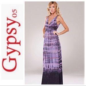 Gypsy 05 Purple Tie Dye Maxi Dress